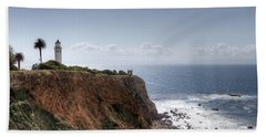 Point Vicente Lighthouse In Winter Beach Sheet by Heidi Smith