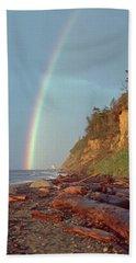 Point Wilson Beach Towel by Laurie Stewart