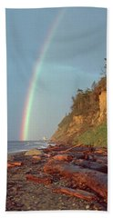 Beach Sheet featuring the photograph Point Wilson by Laurie Stewart