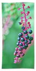 Poke Berries Beach Towel