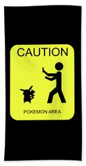Beach Towel featuring the digital art Pokemon Area by Shane Bechler