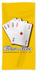 Poker Of Aces - Four Aces Beach Towel