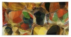 Crazy Quilt Beach Towel by Kathie Chicoine
