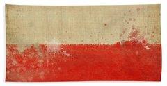 Poland Flag  Beach Towel