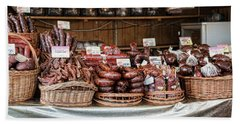 Poland Meat Market Beach Towel