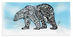 Polar Bear Doodle Beach Towel