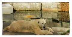 Polar Bear Poolside Beach Towel