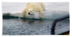 Polar Bear Says 'huh' Beach Sheet