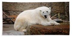 Polar Bear Smile Beach Sheet