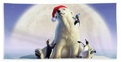 Polar Season Greetings Beach Towel
