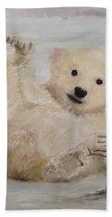 Polar Slide Beach Towel by Annie Poitras