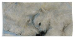 Polar Snuggle Beach Towel by Meagan  Visser