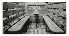 Polaroid Image-old Truck Bench Seats Beach Towel