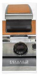 Polaroid Sx70 On White Beach Sheet