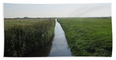 Polder Near Camperduin Beach Towel