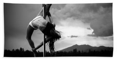 Pole Dance 1 Beach Towel