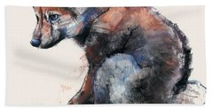 Polish Wolf Pup Beach Towel
