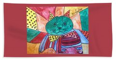 Politicats Copyright Did North Korea Just Fire A Missile Over Japan? Beach Towel