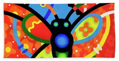 Kaleidoscope Butterfly Beach Towel