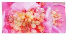 Polka Dot Floral Beach Towel