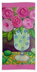 Polka-dot Vase Beach Towel by Rosemary Aubut