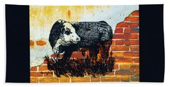 Polled Hereford Bull  Beach Towel by Larry Campbell