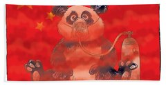 Pollution In China Beach Towel
