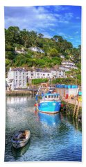 Polperro - Cornwall Beach Sheet by Hazy Apple