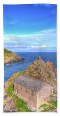 Polperro Entrance Beach Sheet by Hazy Apple