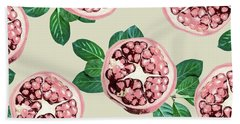 Pomegranate Pattern Beach Towel by Uma Gokhale