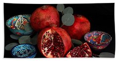 Pomegranate Power Beach Towel
