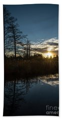 Pond At Sunset-rawlinson Park Beach Towel