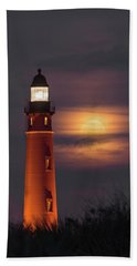 Beach Towel featuring the photograph Ponce De Leon Full Moon by Norman Peay