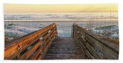 Ponce De Leon Inlet Beach Path Beach Towel