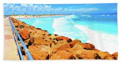 Ponce Inlet Jetty  Beach Towel