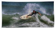 Beach Sheet featuring the photograph Ponce Surfer 2017 by Deborah Benoit
