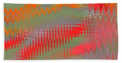 Pond Abstract - Summer Colors Beach Towel by Ben and Raisa Gertsberg