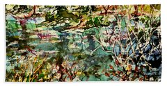 Pond And Beyond Beach Towel