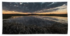 Pond And Sky Reflection1 Beach Towel