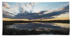 Pond And Sky Reflection2 Beach Towel