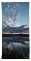 Pond And Sky Reflection3 Beach Towel
