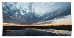 Pond And Sky Reflection4 Beach Towel