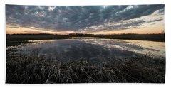 Pond And Sky Reflection5 Beach Towel