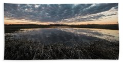 Pond And Sky Reflection5 Beach Towel