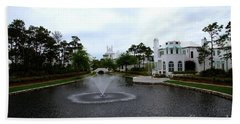 Pond At Alys Beach Beach Towel by Megan Cohen