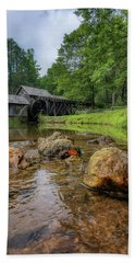 Pond At Mabry Mill Beach Towel