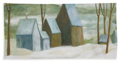 Pond Farm In Winter Beach Sheet