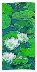 Pond Lily 2 Beach Sheet by Pamela Cooper