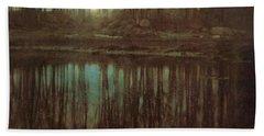 Pond Moonlight Beach Towel by Edward Steichen