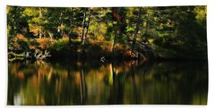 Pond Reflections Beach Towel